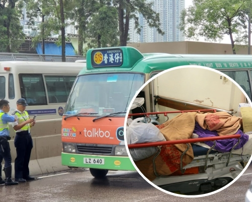 香港仔綠VAN撞男途人 昏迷送院搶救