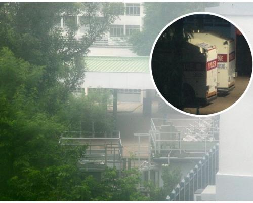 水炮車昨停泊黃竹坑警察訓練學校戒備 今不見蹤影