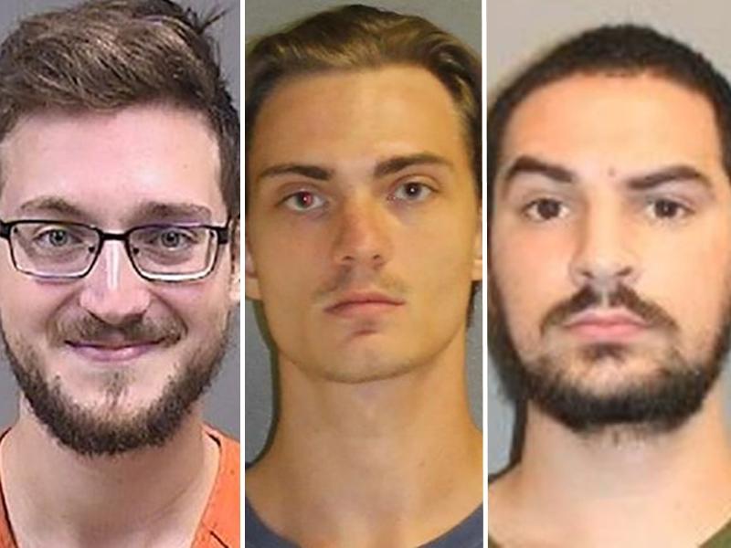 美國警方分別在3個不同的州份拘捕3名男子。網圖