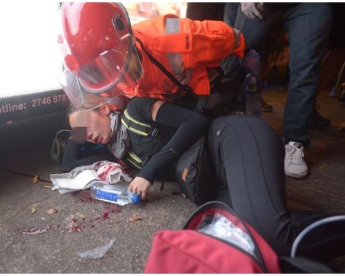 【逃犯條例】「811衝突」發射8枚布袋彈 籲爆眼女示威者聯絡警方