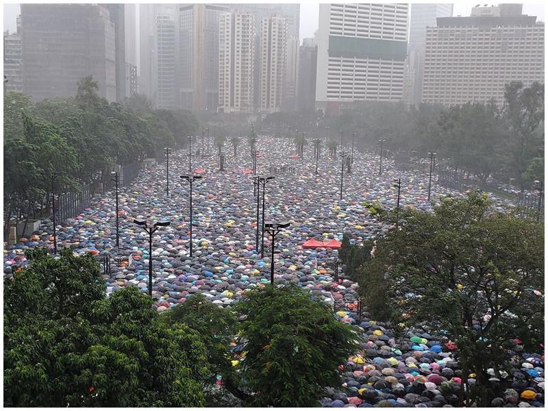 警方指昨日集會和平不代表有錯失。資料圖片