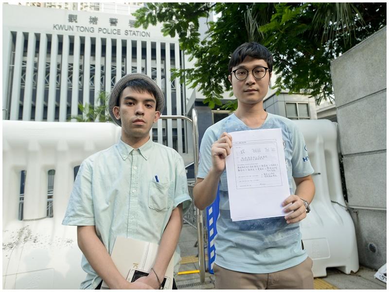 劉頴匡(右)指確實路線有待警方落實。