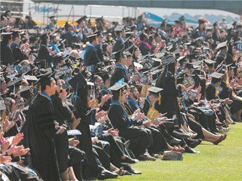 隨着中美貿易戰升溫,中國留學生赴美國留學意欲減少。示意圖/網圖