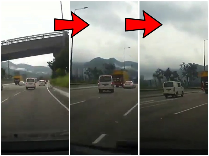 客貨車公路上左穿右插。網民Lemon Keung facebook群組「馬路的事討論區」