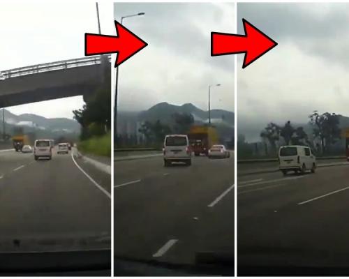 【車Cam直擊】客貨車公路左穿右插逢車過車 網民揭發有前科
