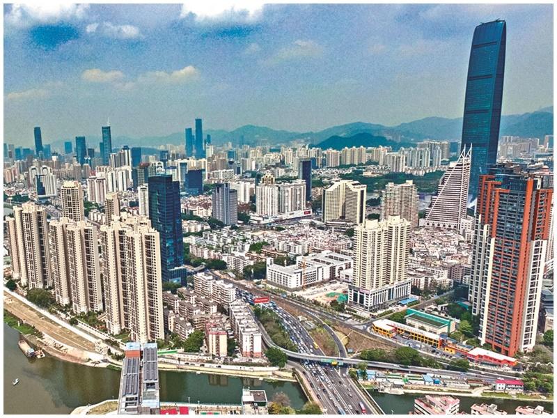政法委指深圳「先行示範區」深度融合有助解決香港社會矛盾。網圖