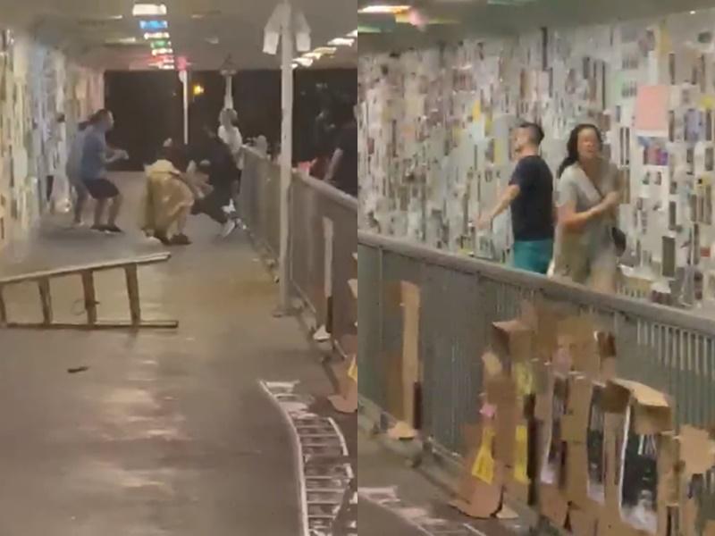 將軍澳連儂隧道刀手傷人。影片截圖