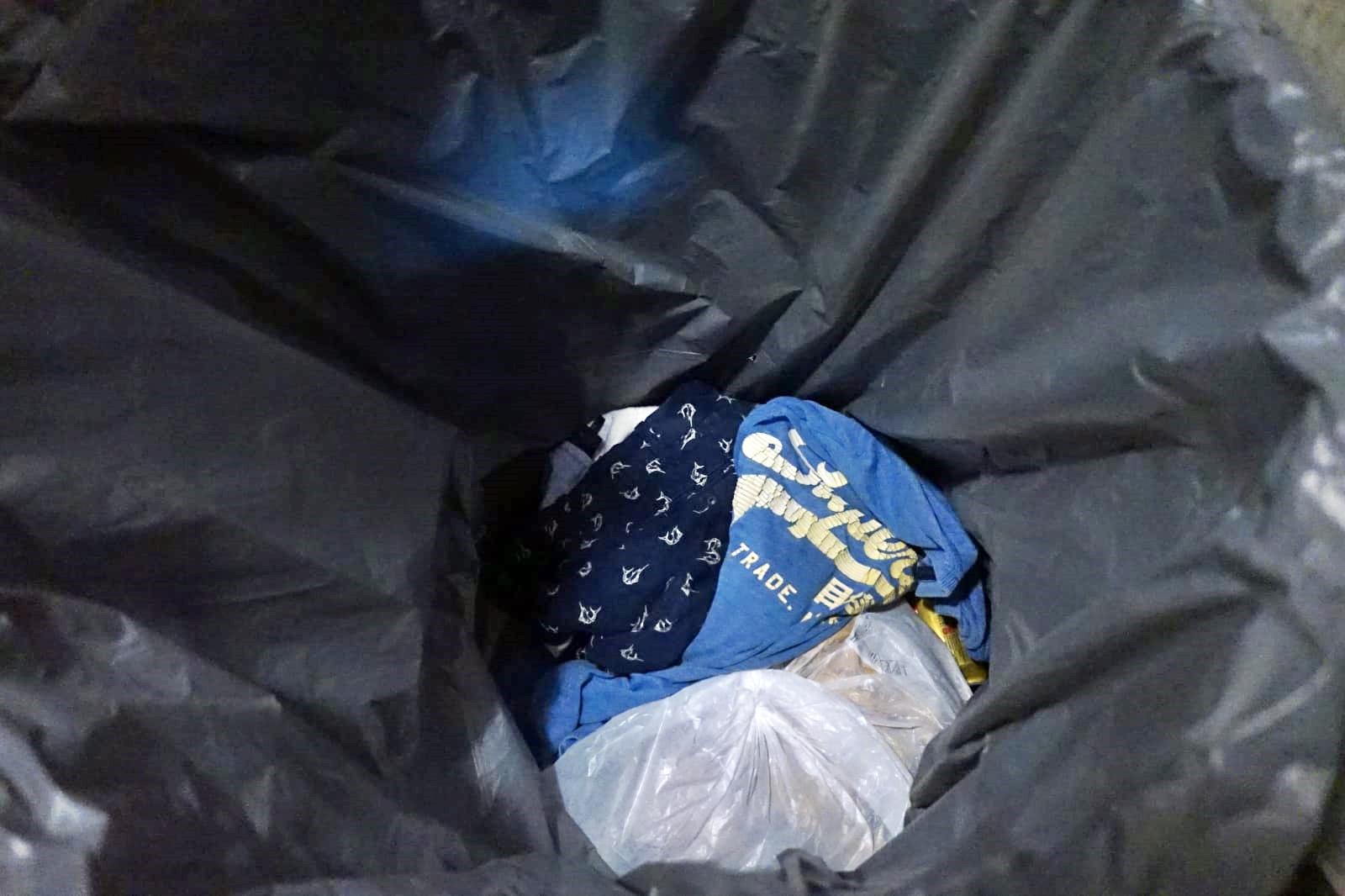 垃圾桶內發現懷疑兇徒在案發時所穿的衣服。