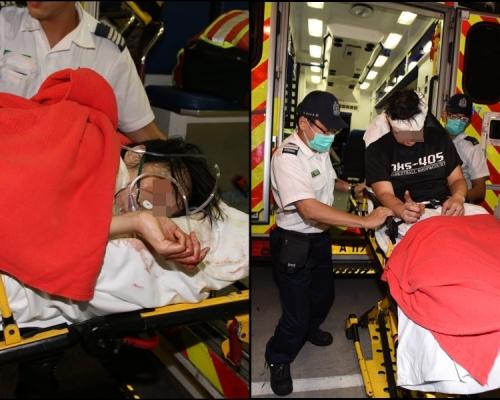 【片段】將軍澳連儂隧道刀手傷人 3男女送院