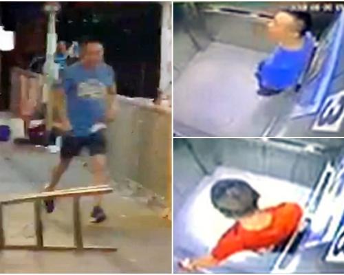 【將軍澳斬人】CCTV影片曝光 藍衣兇徒換紅衫離開