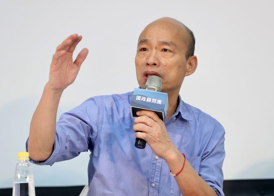 韓國瑜強調台灣追求的是民主自由,而並非這種恐怖的感覺。