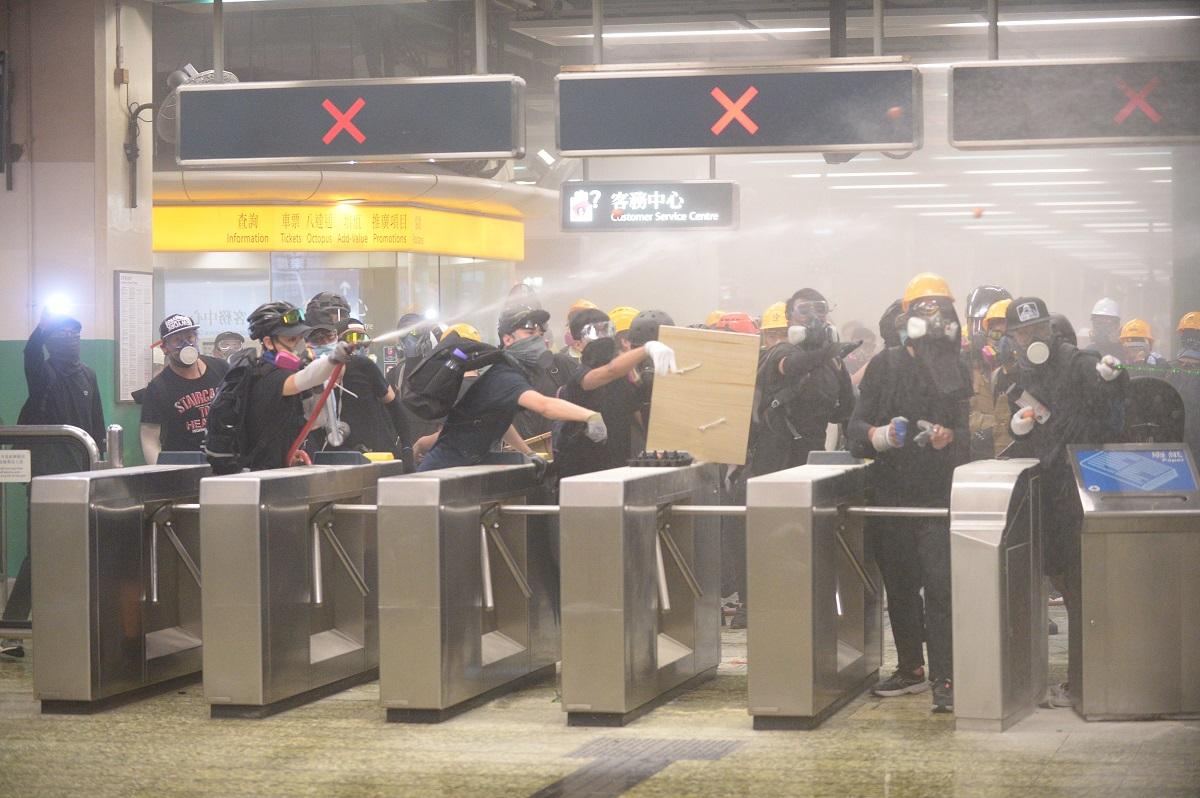 港鐵指,已就車站執法向警方表示關注。資料圖片
