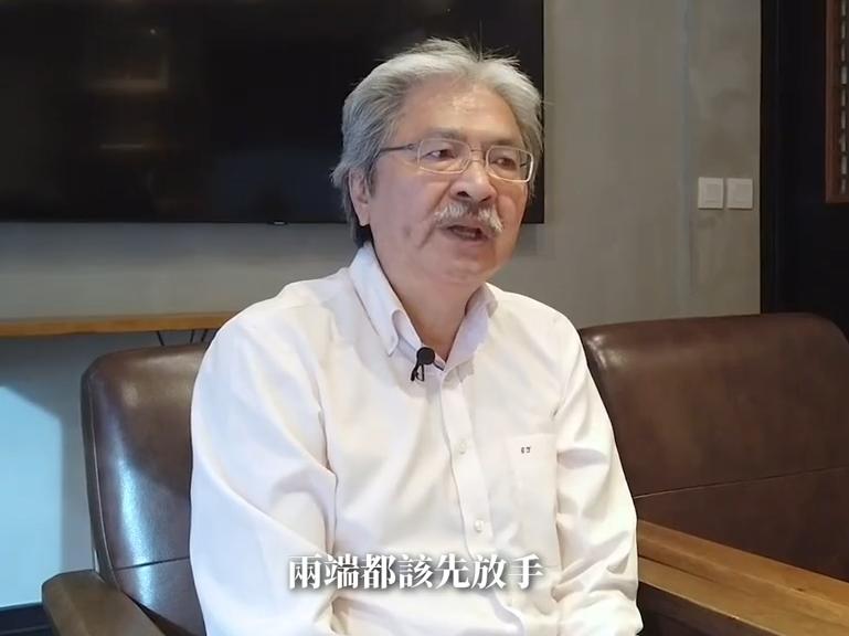 曾俊華在社交網站上載以《我們都是香港人》為題的短片,形容「香港病得很重」。 曾俊華FB短片截圖