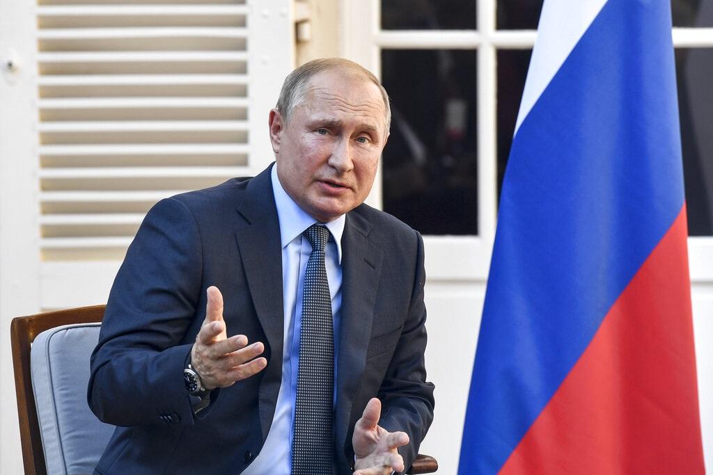俄羅斯總統普京身處法國。AP圖片