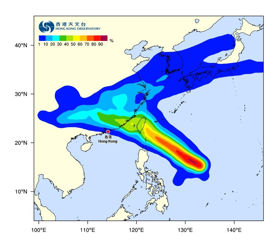 熱帶氣旋路徑概率預報