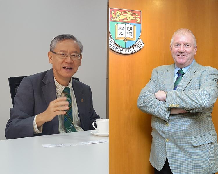 港大副校長賀子森(左)及康諾恩(右)。 資料圖片