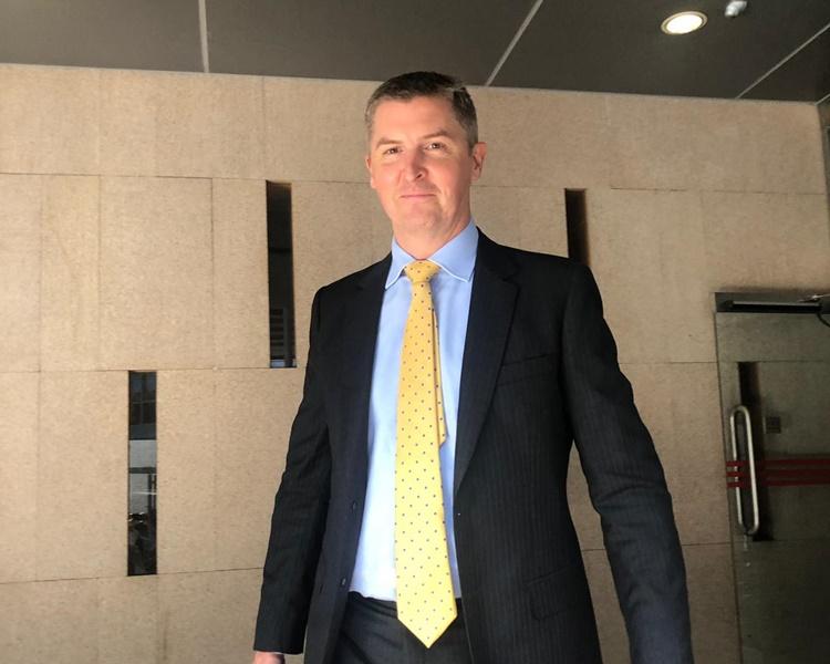 國泰的獎勵部門的主管Richard Knight出庭作供。陳紫君攝