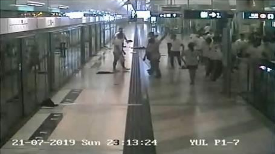 江永祥承認,鐵路警區控制中心可以即時看到港鐵閉路電視片段。港鐵片段截圖