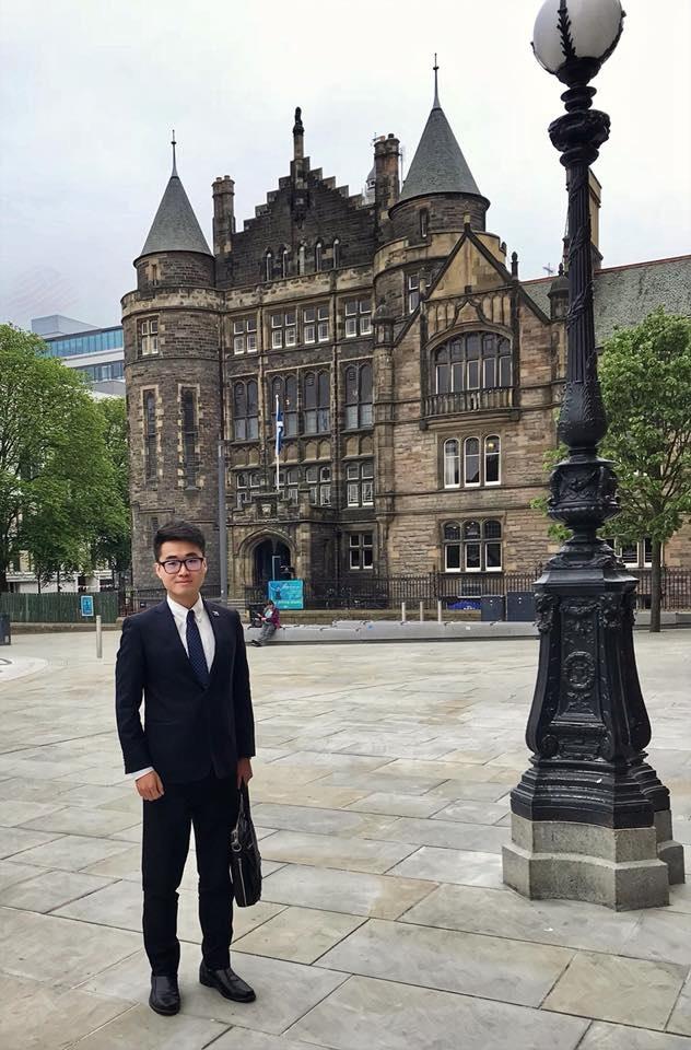 英國領事館男職員Simon Cheng深圳被拘留。網上圖片