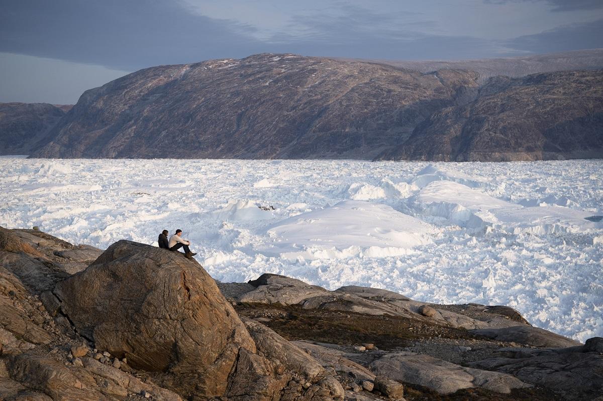 黑爾海姆冰川(Helheim Glacier)。AP圖片