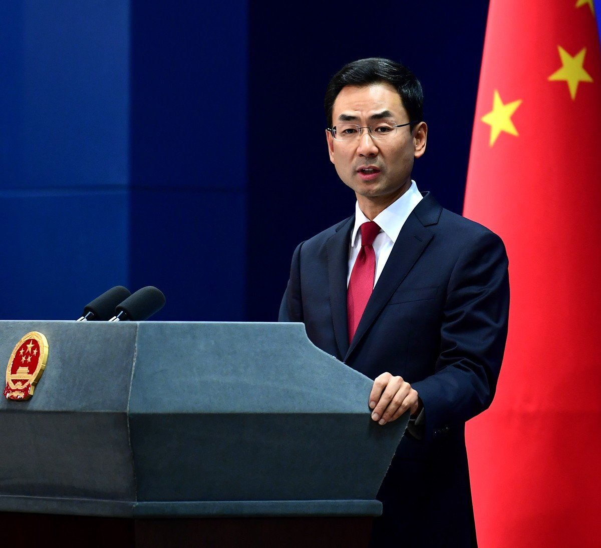 北京外交部發言人耿爽指將對參與軍售美國公司實施制裁。網上圖片