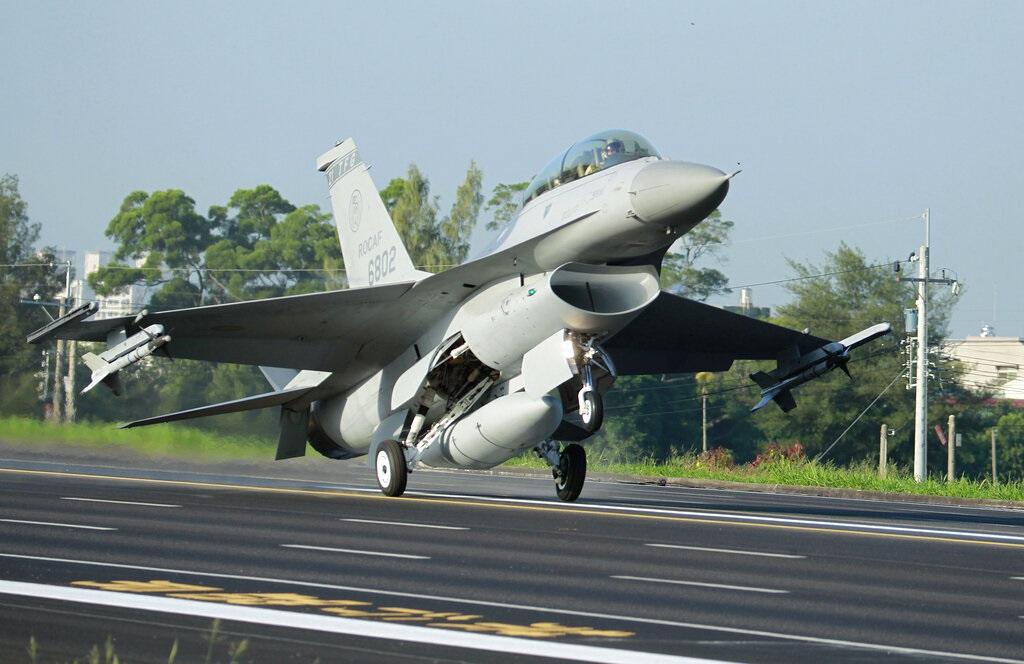 台灣的F16戰機。AP圖片