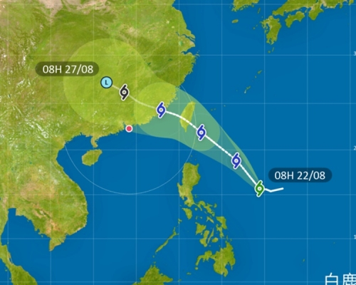 「白鹿」料增強周末趨台灣 下周或有機會影響香港