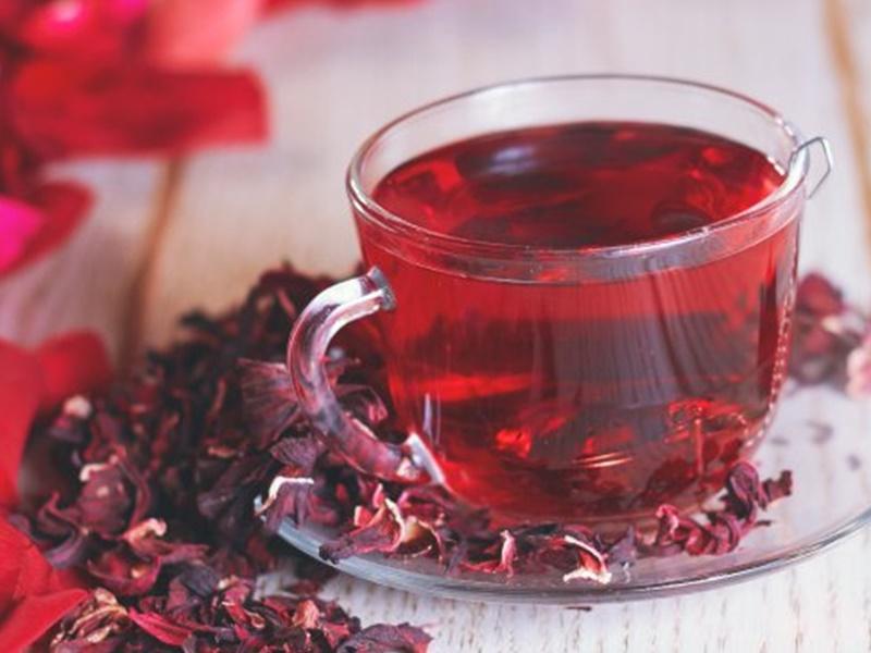 洛神花茶有助抗氧化,適合愛美的女士們。網圖