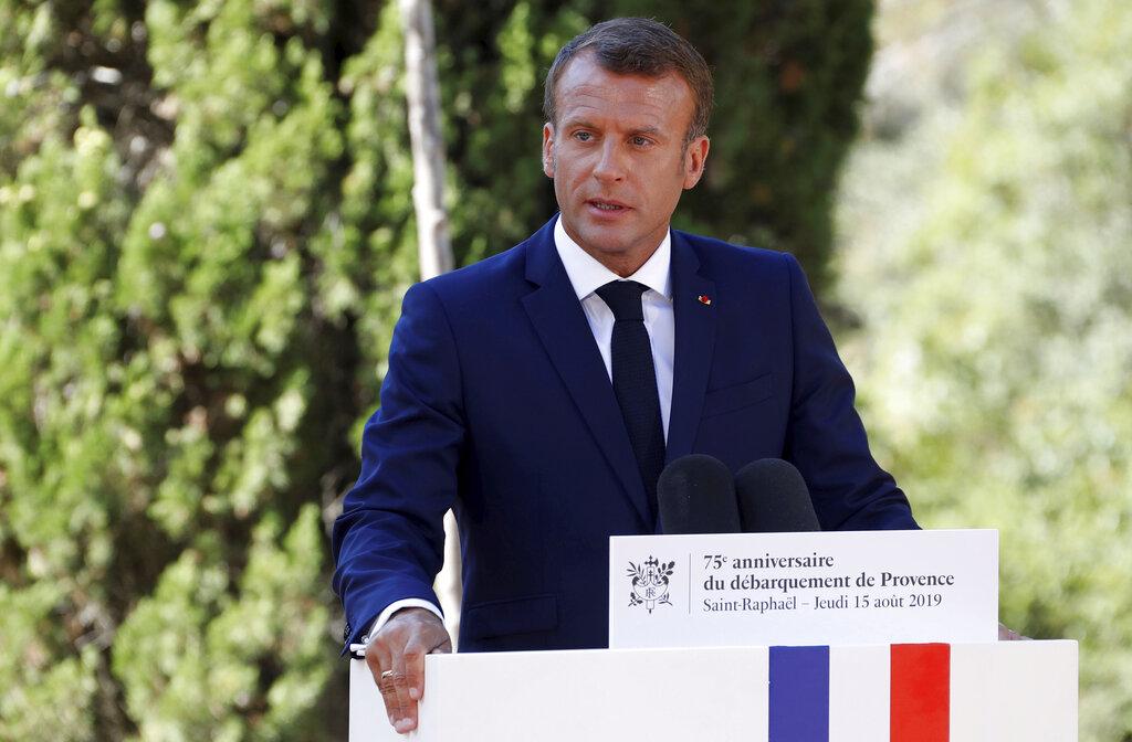 馬克龍表示,只要烏克蘭衝突獲得解決,他支持俄羅斯重返七大工業國(G7)集團,重新建立 G8 集團。 AP
