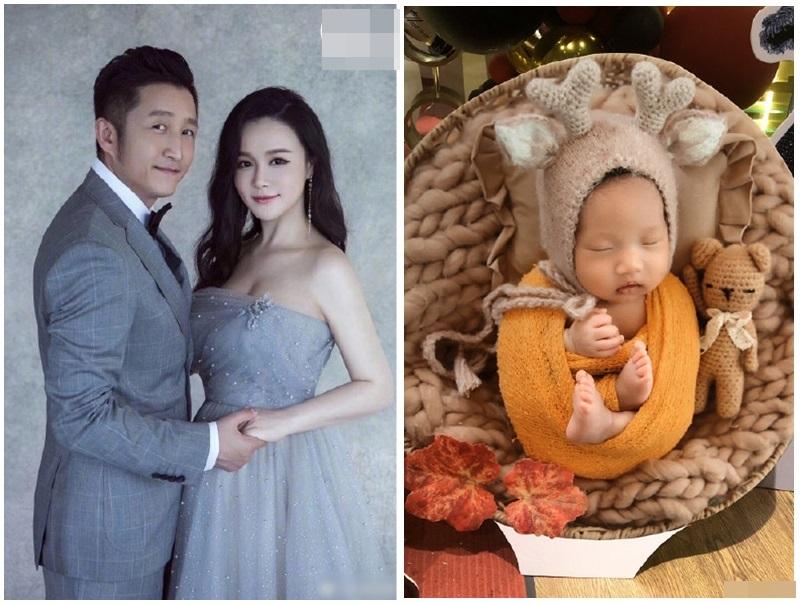 中國拳王鄒市明喜獲第三個兒子,首晒正面照。網圖