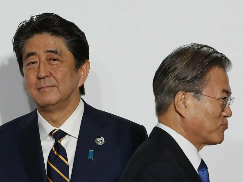 安倍晉三指南韓不再續簽《韓日軍事情報保護協定》損害互信。AP資料圖片