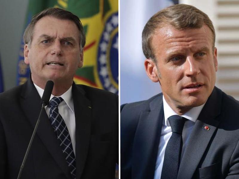巴西總統博爾索納羅指責馬克龍充滿「殖民主義心態」,企圖利用這件事撈取政治本錢。 AP