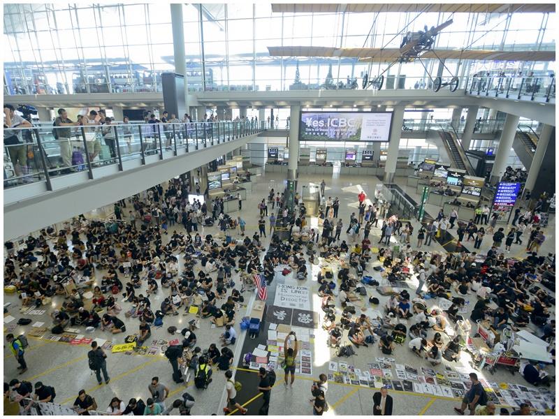 法院批准機場禁制令延期,禁止一切示威活動。資料圖片