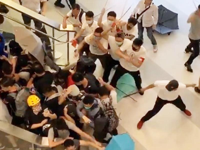 元朗721暴力襲擊市民事件並有28人被捕。資料圖片