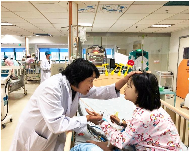 為跟進內地病童個案,林國嬿於湖南省兒童醫院出任榮譽護理顧問。受訪者提供