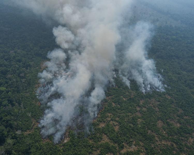 亞馬遜雨林大火持續不受控制。AP