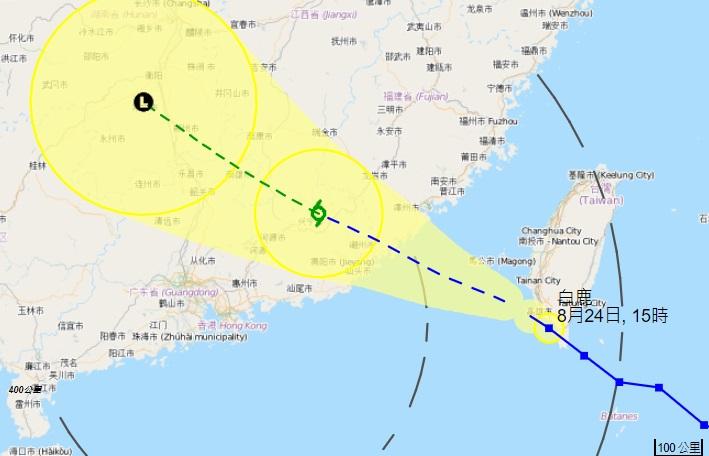 白鹿會在今明兩日橫過台灣海峽及中國東南部。