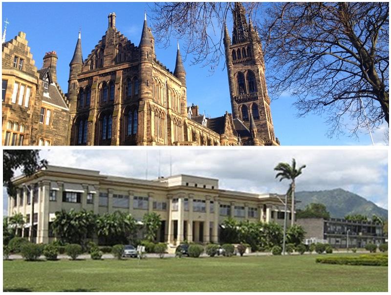 蘭格拉斯哥大學和西印度群島大學合設發展研究中心。網圖