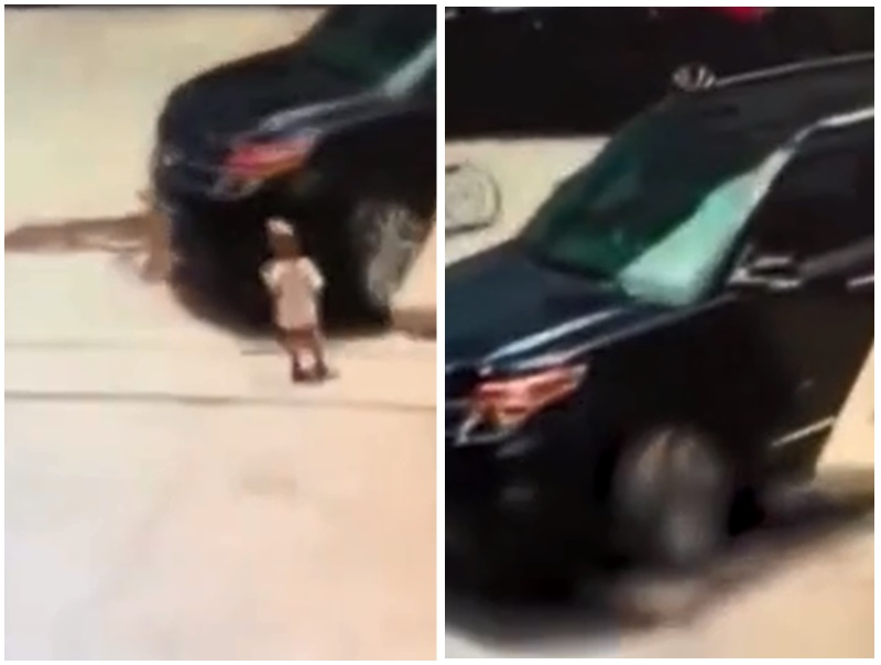 司機輾斃1歲幼童稱未注意,交警:須負全責。影片截圖
