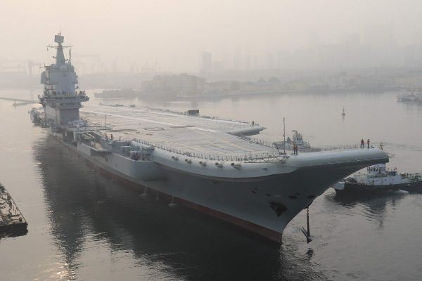 國產航母在成功7次海上試航。網圖