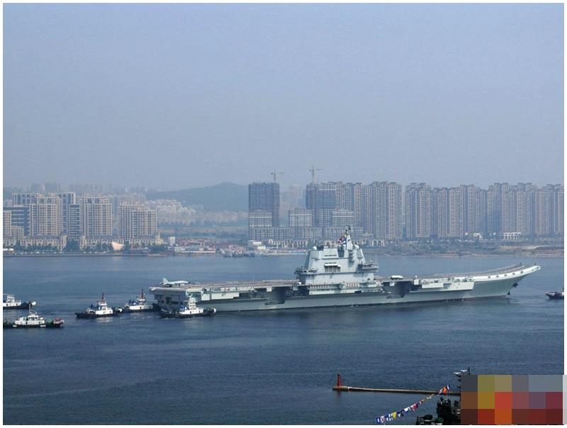 23日已返回遼寧大連造船廠。網圖