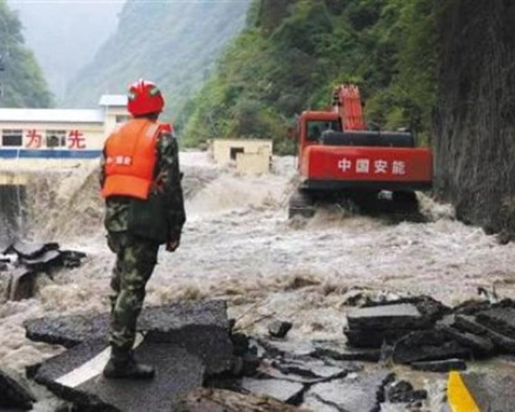 汶川暴雨成災。