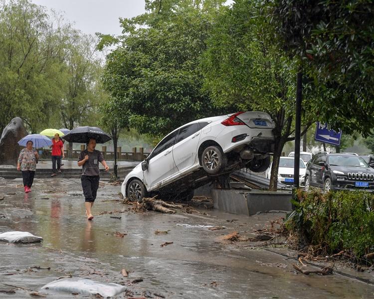 四川暴雨成災。新華社