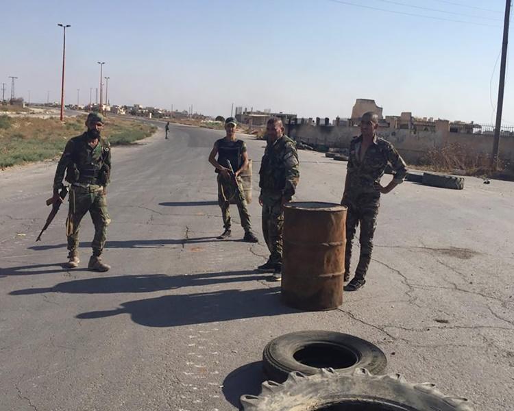 敘利亞官方傳媒指政府軍防空部隊即時作出反擊。AP
