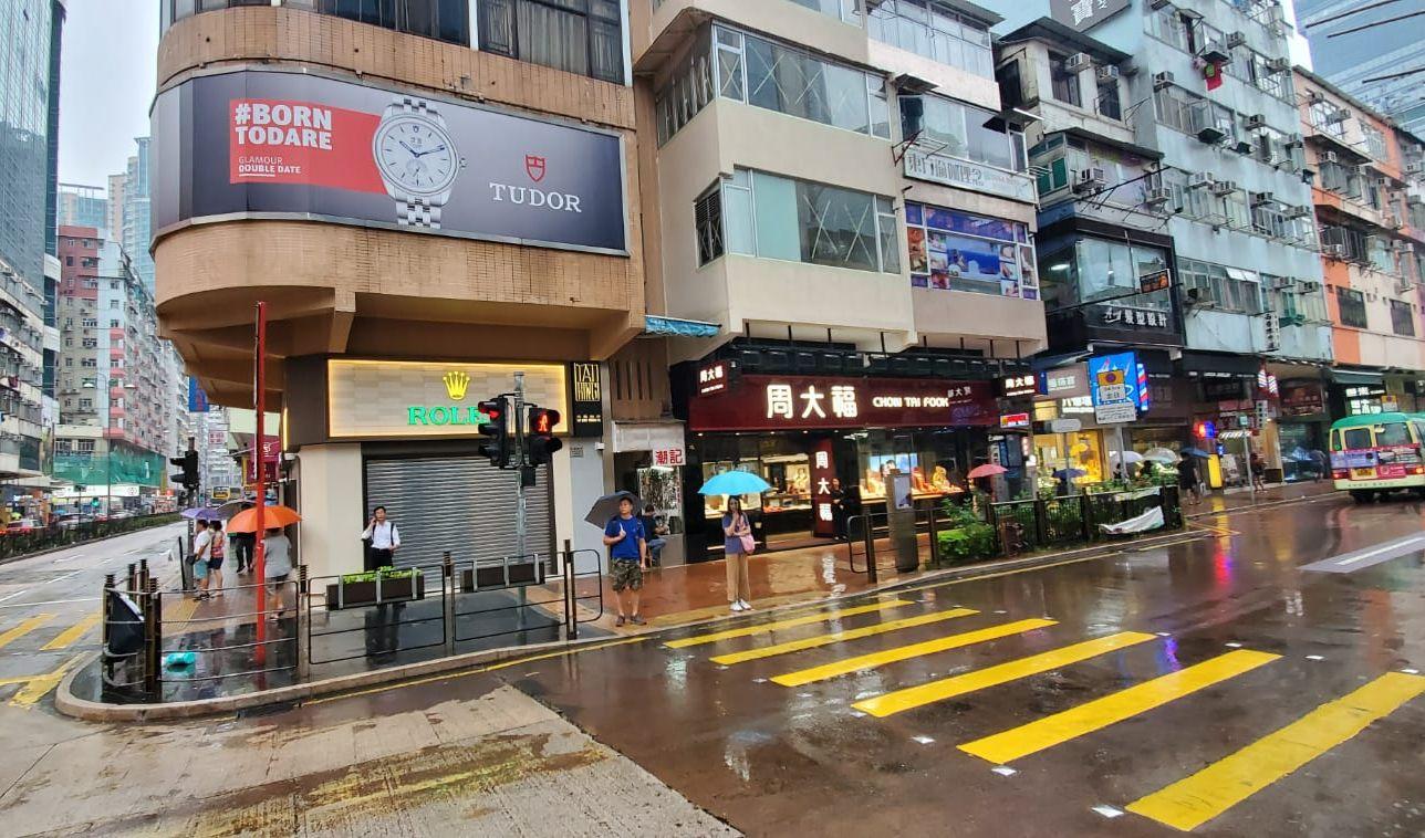 荃灣楊屋道、眾安街附近有少量商戶關閉休息。楊偉亨攝