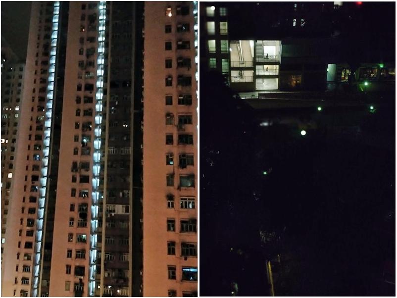 荃灣中心(左)/香港突發事故報料區FB圖片。太和(右)/Tai Po 大埔FB圖片
