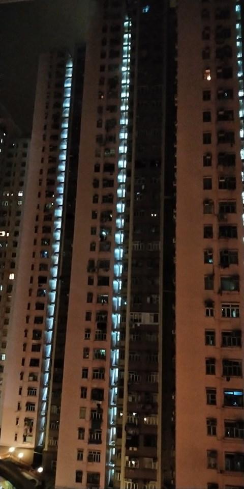 荃灣中心。香港突發事故報料區FB圖片