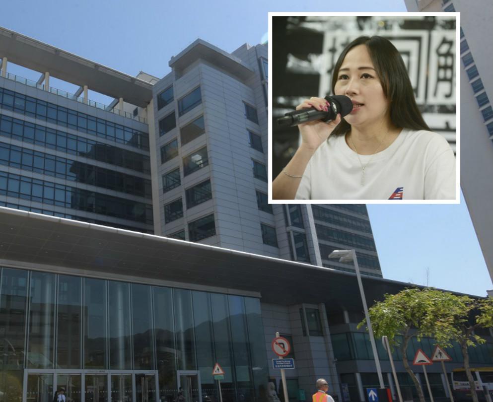 遭解僱的國泰港龍空勤人員協會主席施安娜(小圖)
