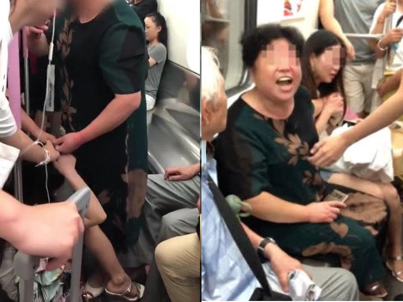 大媽與女孩因座位問題起衝突,告狀被眾人反駁。(網圖)