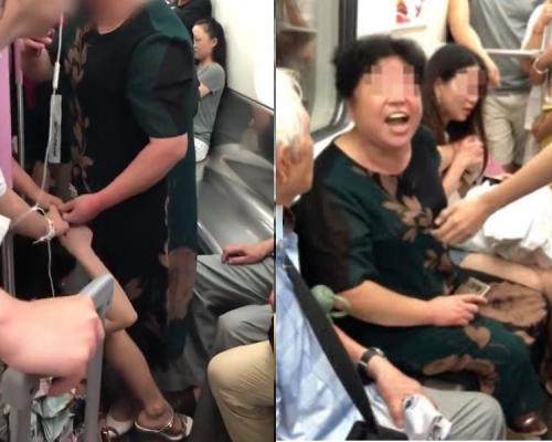 湖北惡婦地鐵爭位打哭女生惡人先告狀 乘客反駁:你先動的手